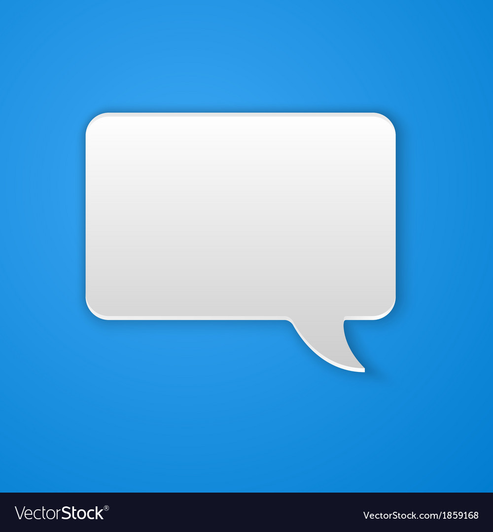 Paper cut speech bubble background vector | Price: 1 Credit (USD $1)