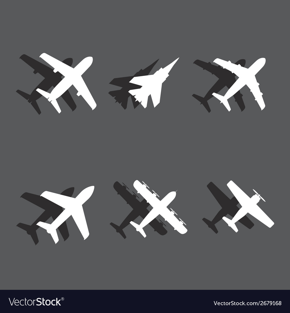 Plane icons vector | Price: 1 Credit (USD $1)