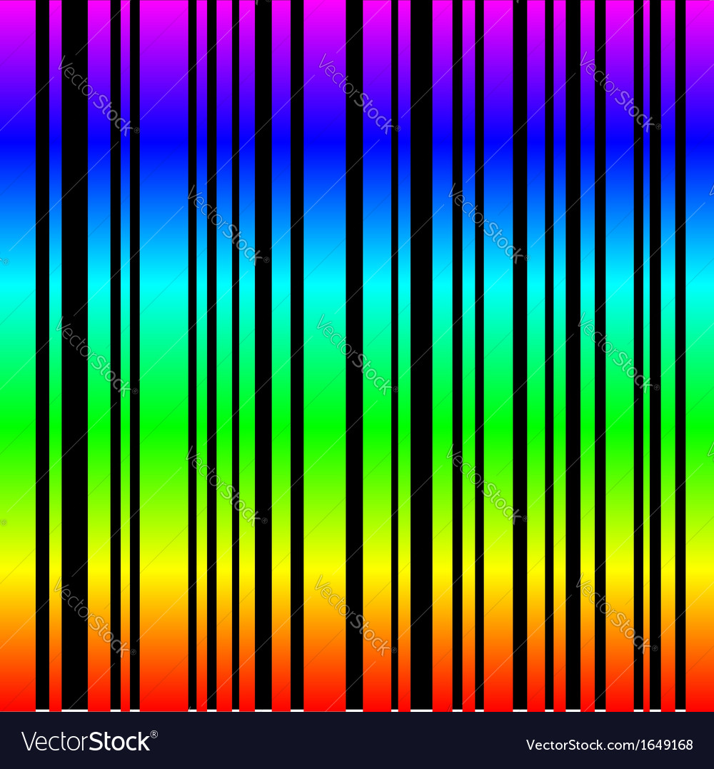 Rainbow colored bar code vector | Price: 1 Credit (USD $1)