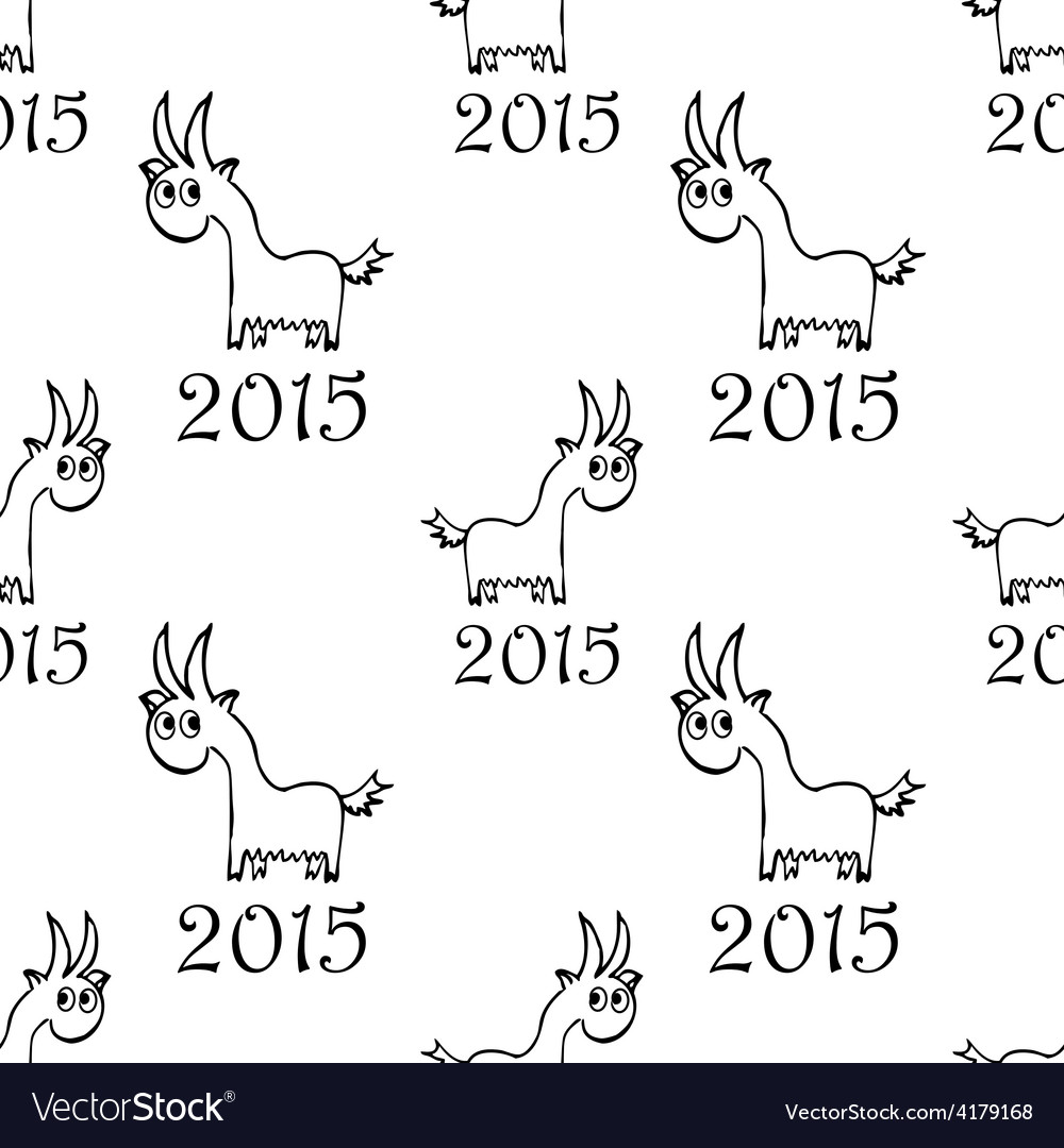 Seamless pattern with goat vector | Price: 1 Credit (USD $1)