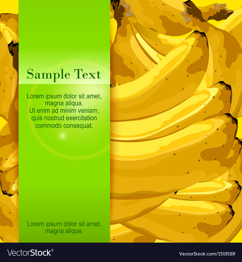 Bananas banner vector | Price: 1 Credit (USD $1)