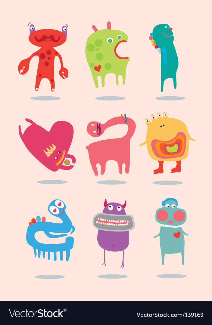 Funny monsters vector | Price: 3 Credit (USD $3)