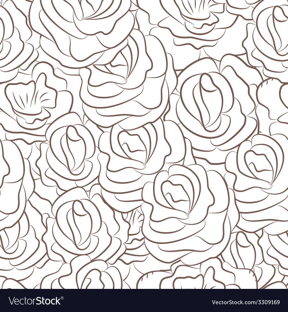 Great seamless pattern with flowers vector | Price: 1 Credit (USD $1)
