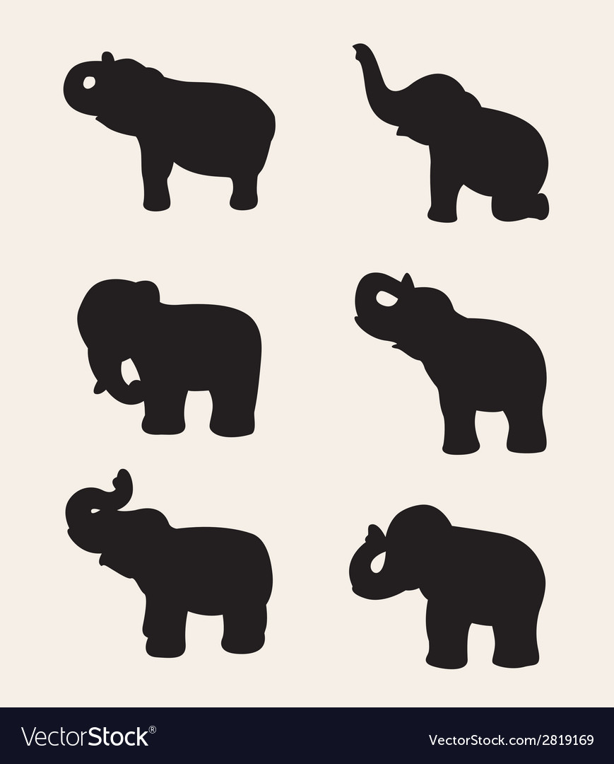 Image of an elephant silhouette vector | Price: 1 Credit (USD $1)