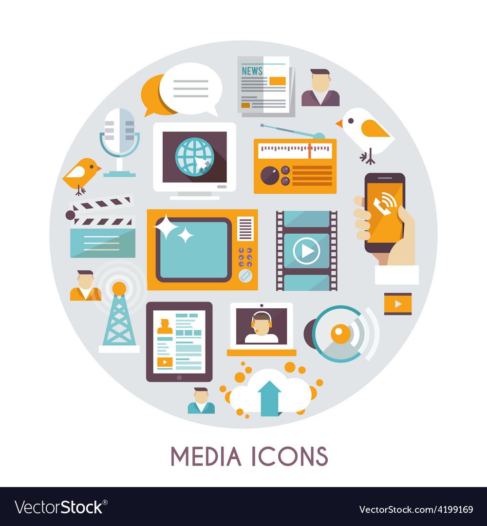 Mass media concept vector | Price: 1 Credit (USD $1)