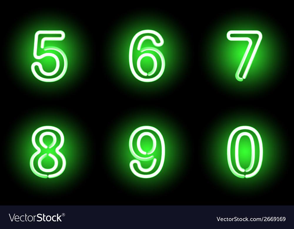 Neon numbers vector   Price: 1 Credit (USD $1)