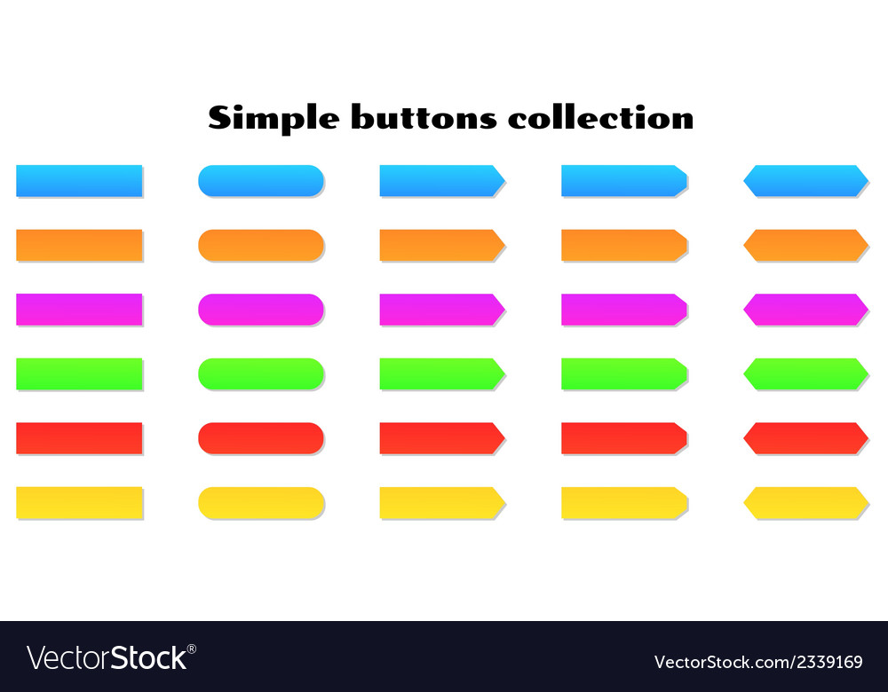 Simple buttons vector | Price: 1 Credit (USD $1)