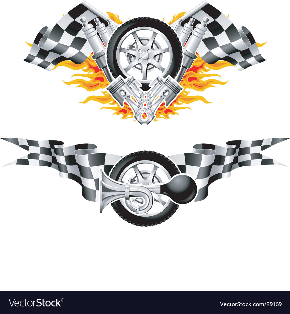 Sports race emblems vector | Price: 3 Credit (USD $3)