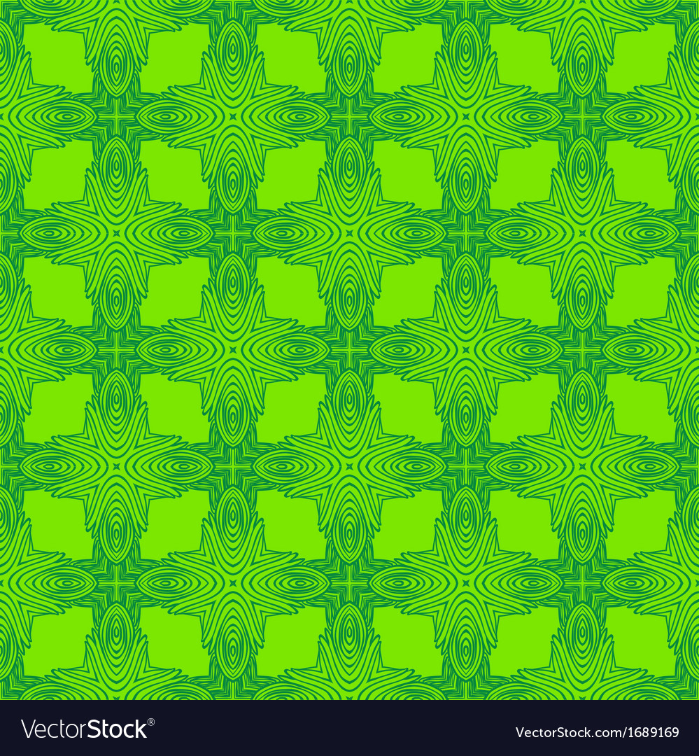 Spring green psychedelic sixties pattern vector | Price: 1 Credit (USD $1)