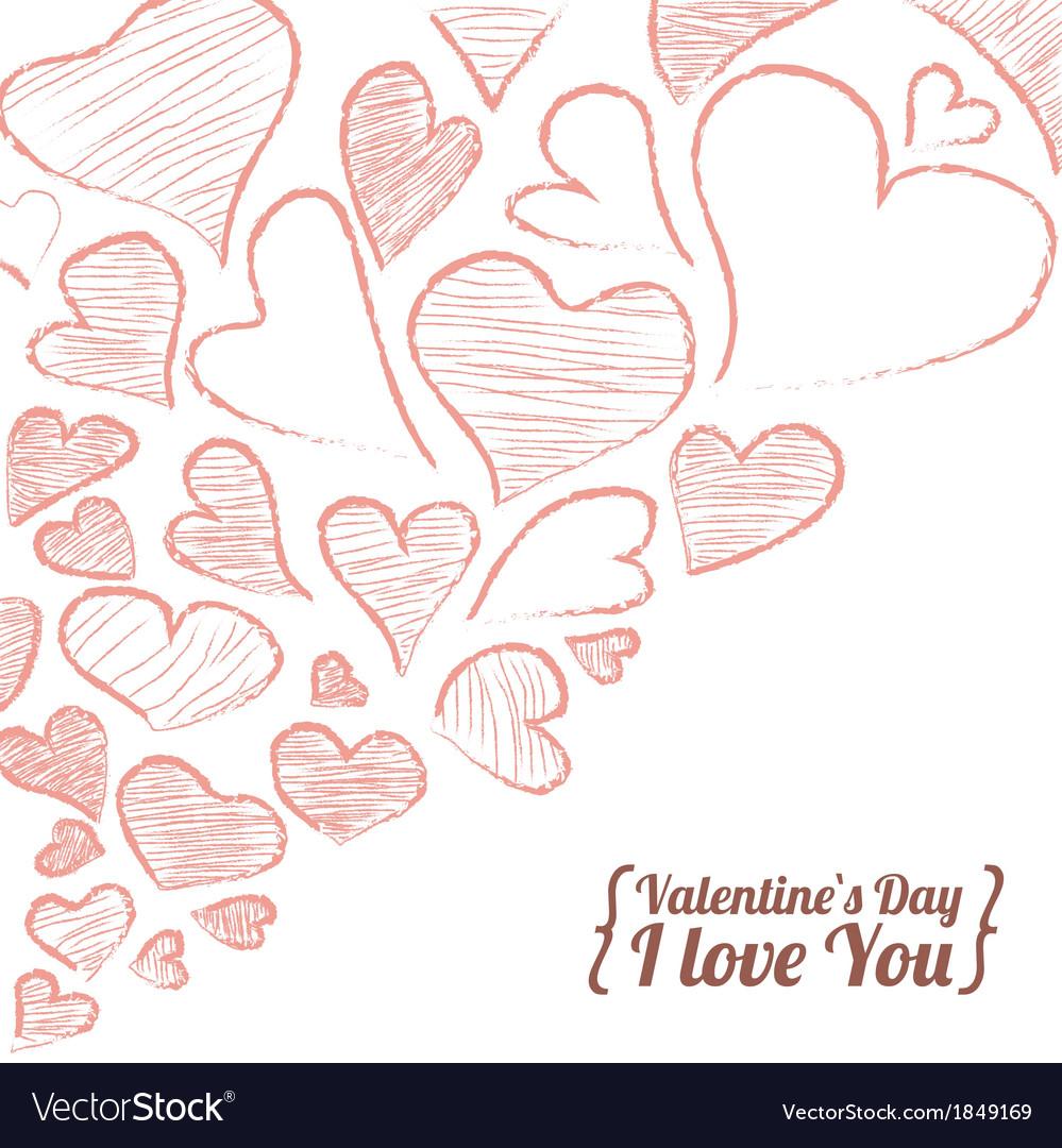 Valentine invitation card vector | Price: 1 Credit (USD $1)