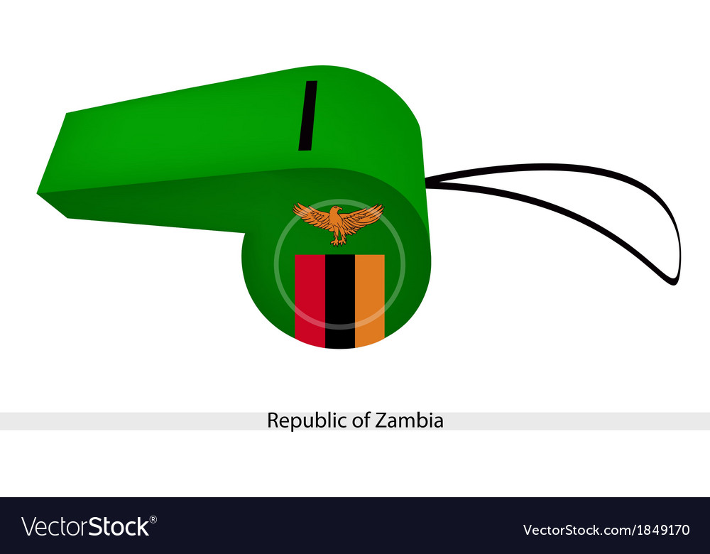 A whistle of the republic of zambia vector | Price: 1 Credit (USD $1)