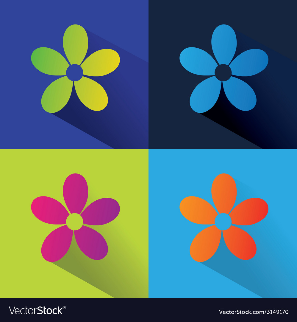 Abstract nature set isolated on colored background vector | Price: 1 Credit (USD $1)