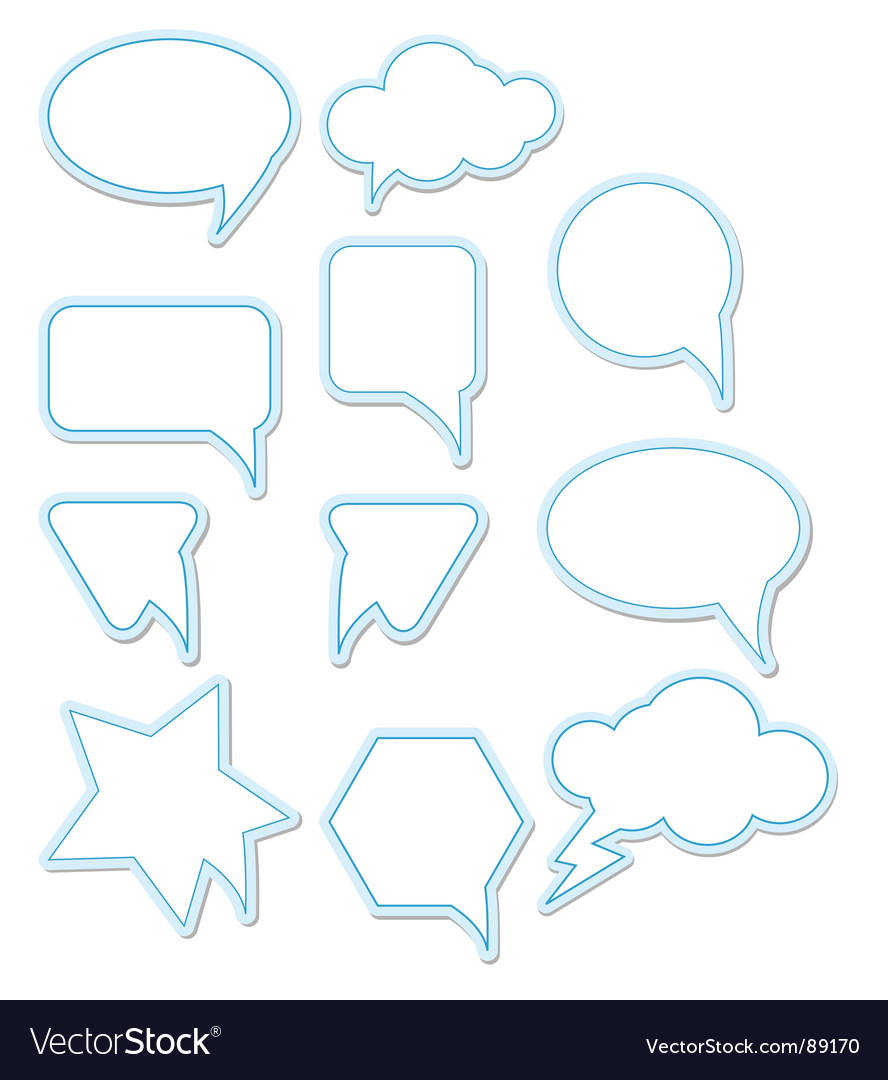 Chat bubbles vector | Price: 1 Credit (USD $1)