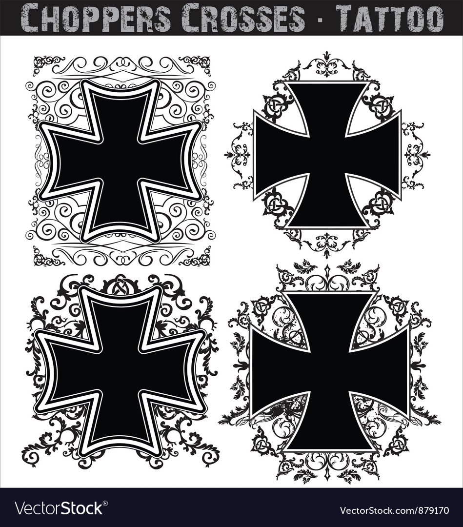Choppers crosses tattoo vector | Price: 1 Credit (USD $1)