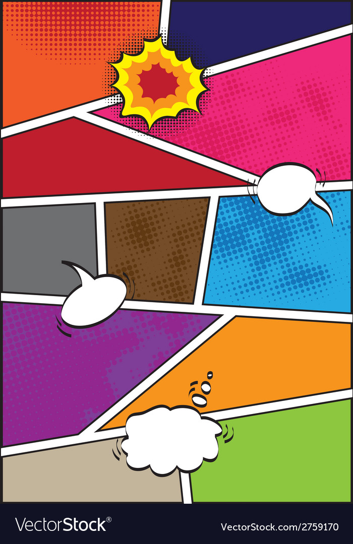 Comics popart style blank layout template vector | Price: 1 Credit (USD $1)