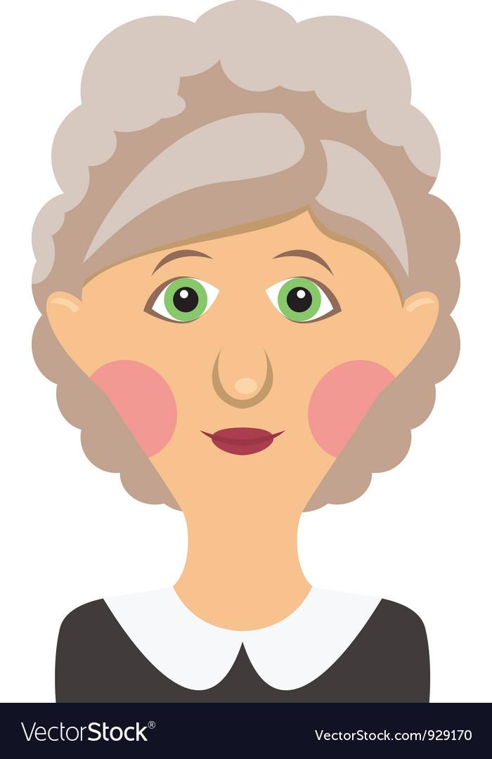 Elderly woman vector | Price: 1 Credit (USD $1)