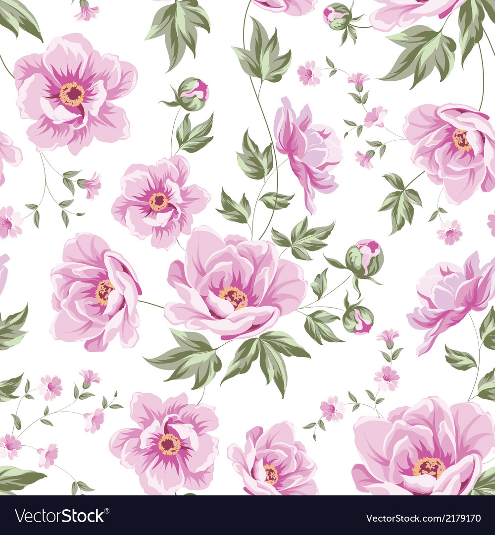 Floral tile pattern vector | Price: 1 Credit (USD $1)