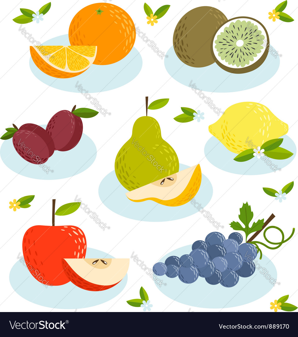 Fruits vector | Price: 3 Credit (USD $3)