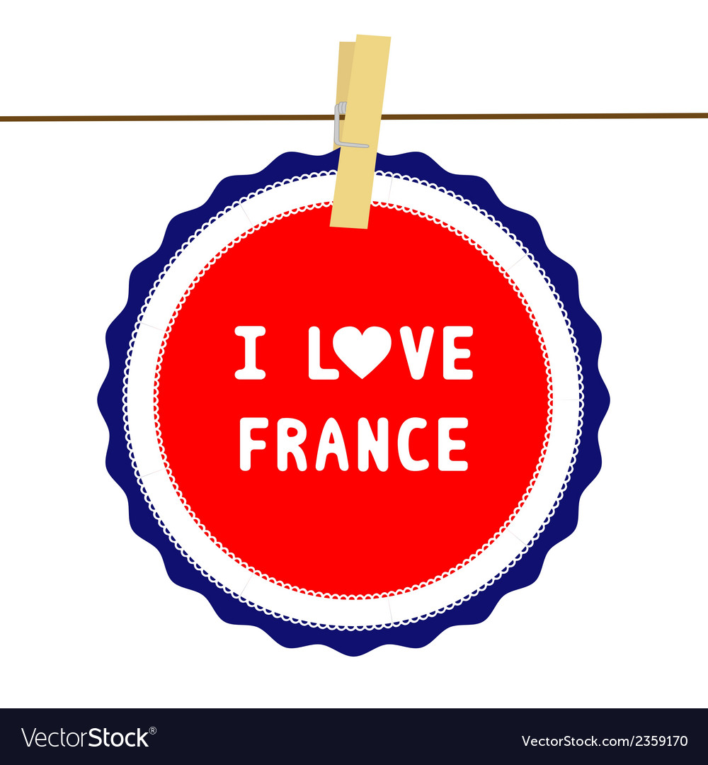 I love france4 vector | Price: 1 Credit (USD $1)