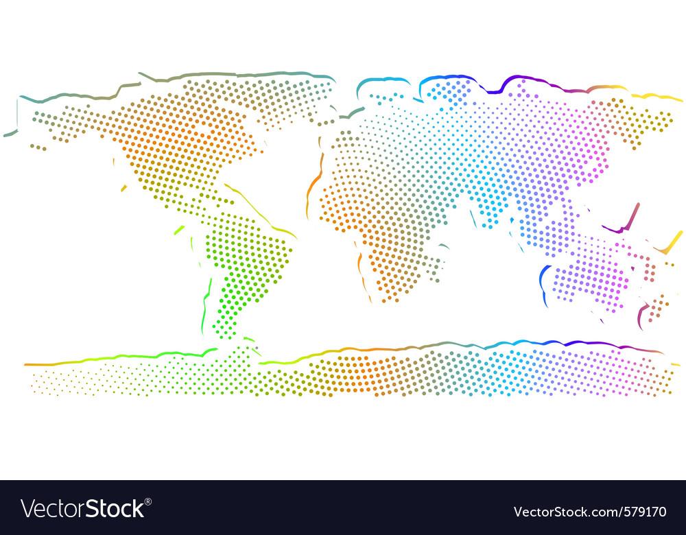 Multicolored world map vector | Price: 1 Credit (USD $1)