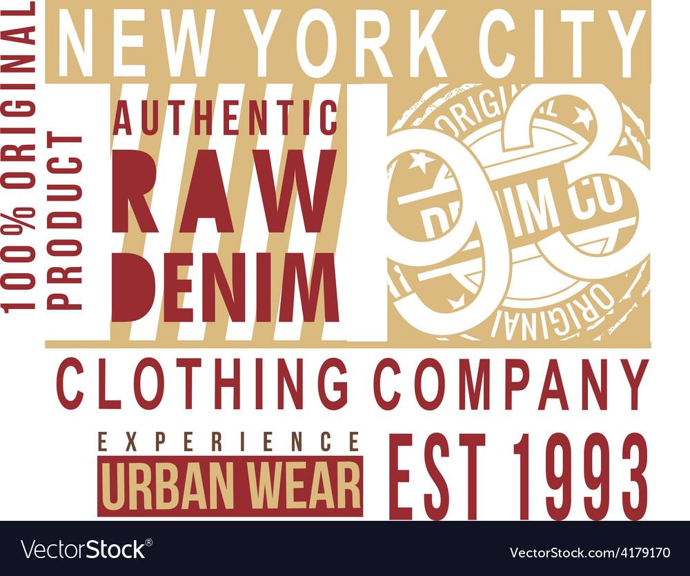 New york city typography t-shirt graphics vector | Price: 1 Credit (USD $1)
