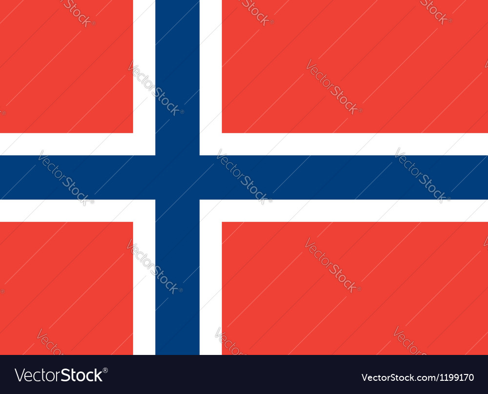 Norway flag vector   Price: 1 Credit (USD $1)