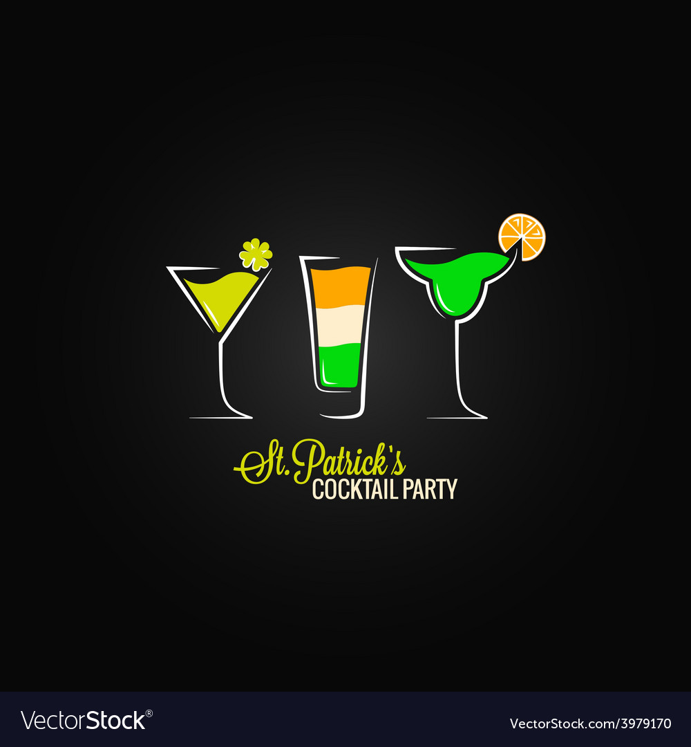 Patrick day cocktail design background vector | Price: 1 Credit (USD $1)