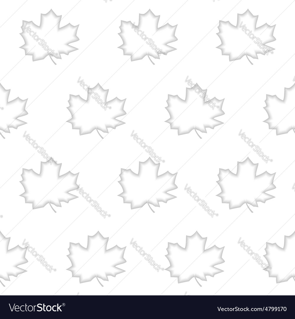 Seamless pattern maple leaf vector | Price: 1 Credit (USD $1)