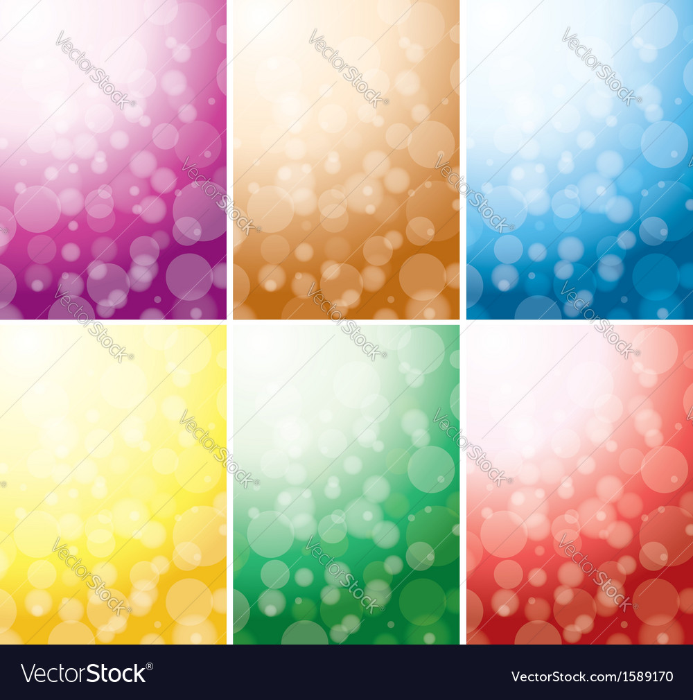 Set of abstract color backgrounds with bokeh vector | Price: 1 Credit (USD $1)