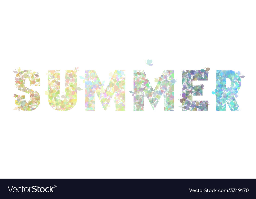 Summer butterflies background vector | Price: 1 Credit (USD $1)