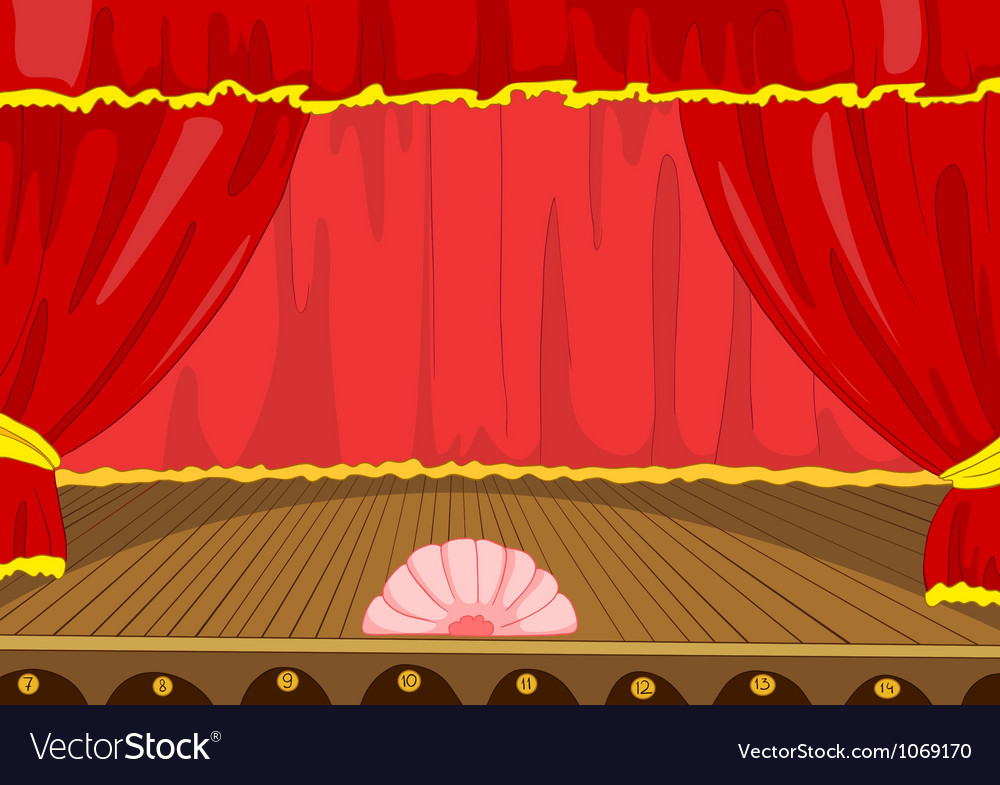 Theater stage cartoon vector | Price: 1 Credit (USD $1)