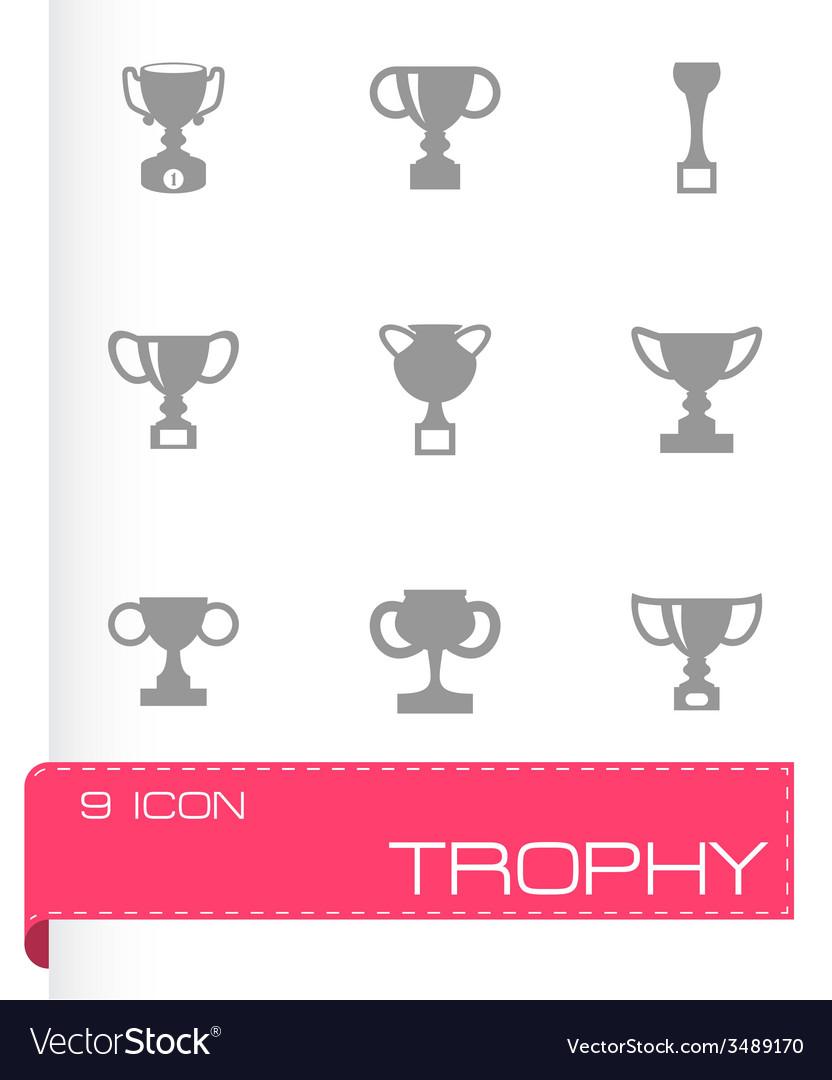 Trophy icon set vector | Price: 1 Credit (USD $1)