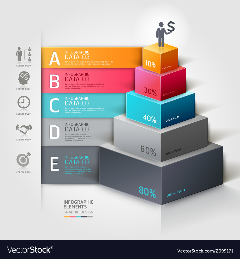 3d business staircase diagram infographics vector | Price: 1 Credit (USD $1)