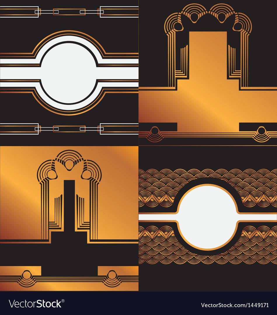 Art deco background vector | Price: 1 Credit (USD $1)