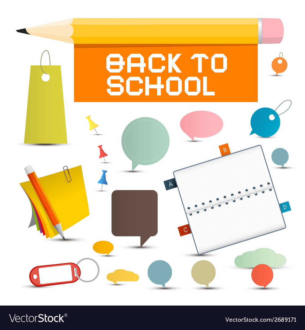 Back to school objects vector | Price: 1 Credit (USD $1)