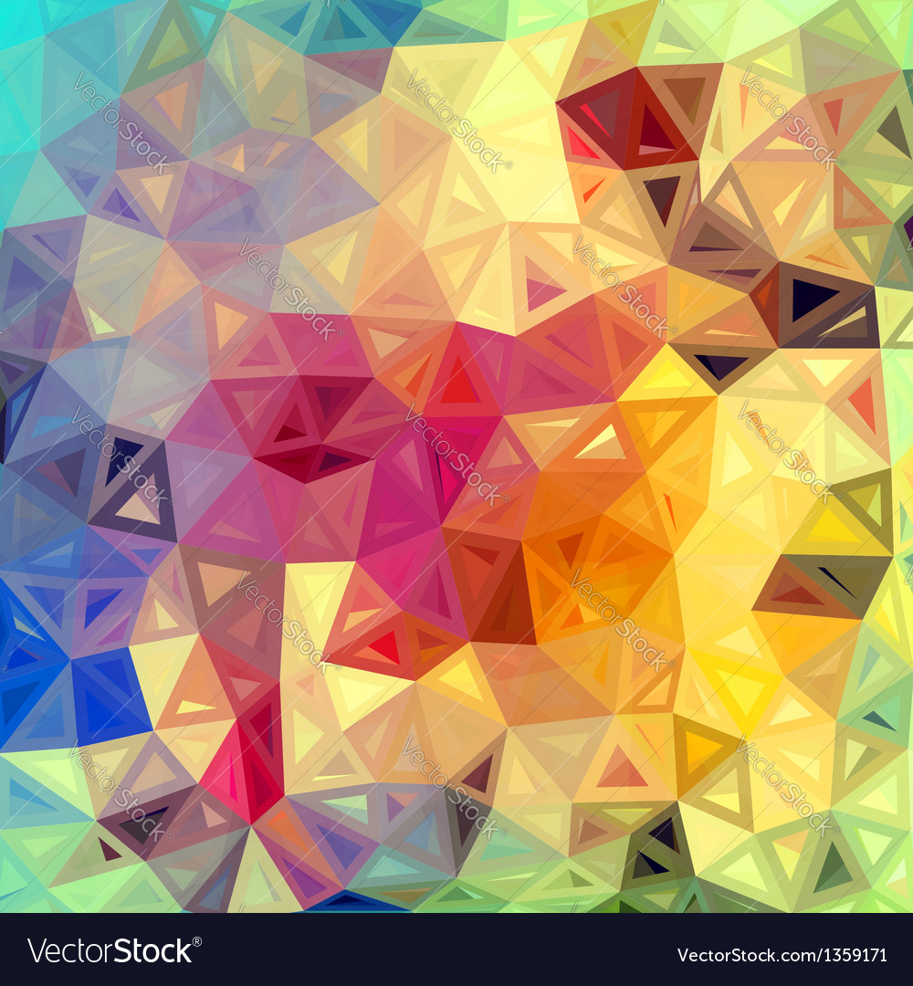 Colorful abstract triangles background vector | Price: 1 Credit (USD $1)