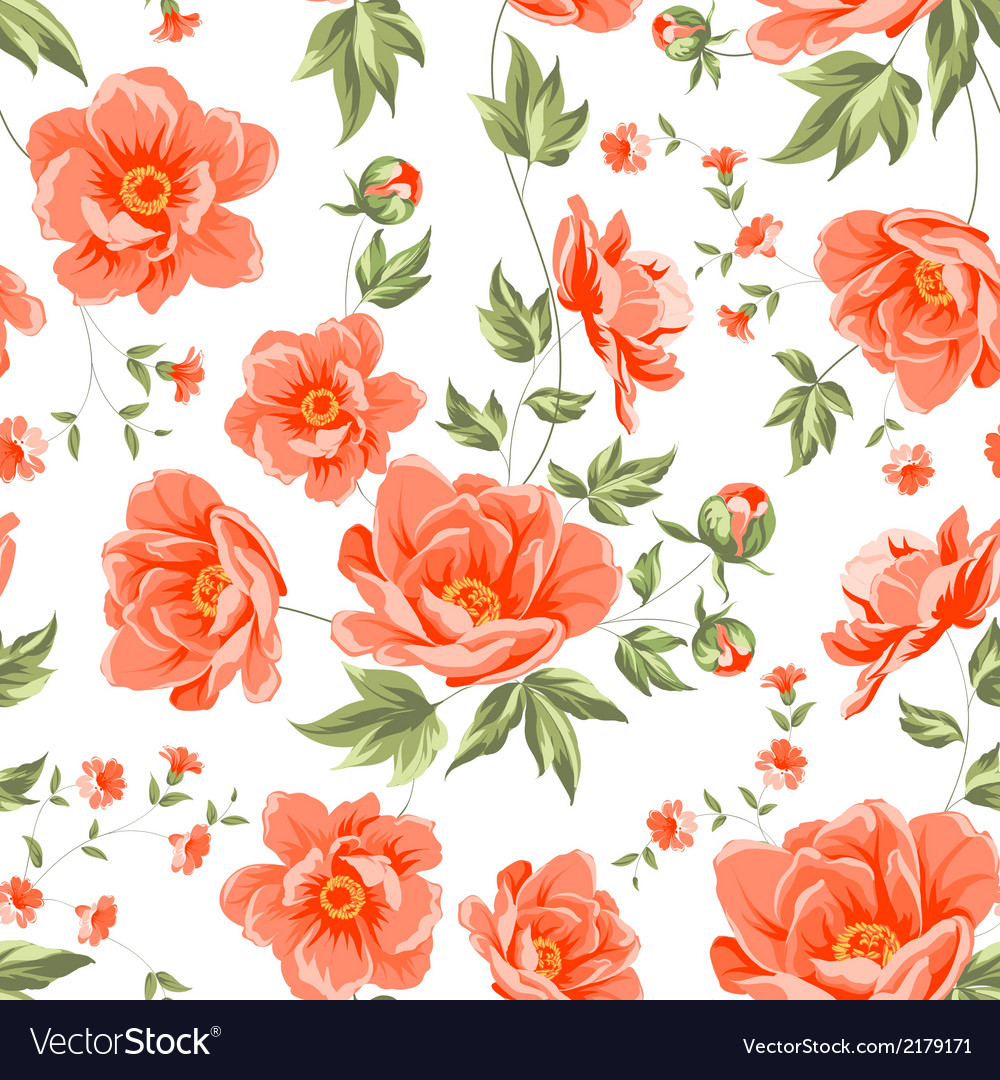 Design of vintage floral pattern vector | Price: 1 Credit (USD $1)