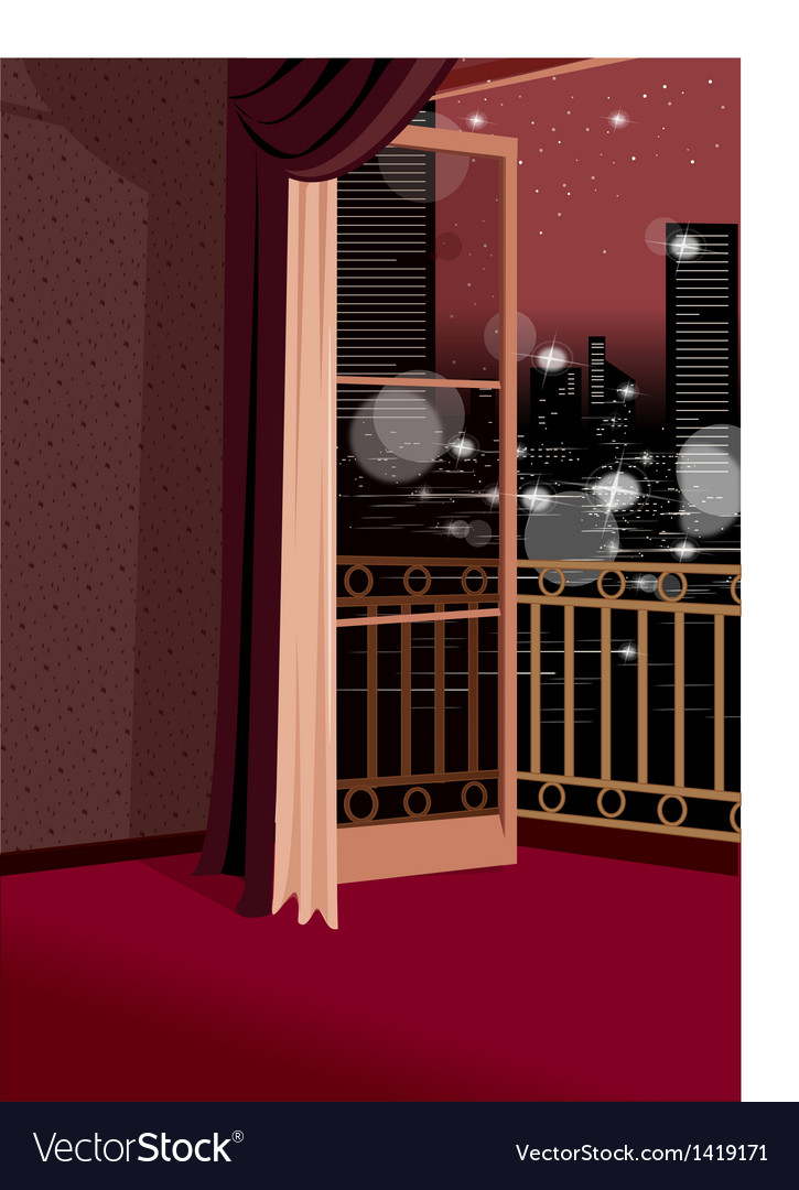 Glamorous apartment cityscape view vector | Price: 1 Credit (USD $1)