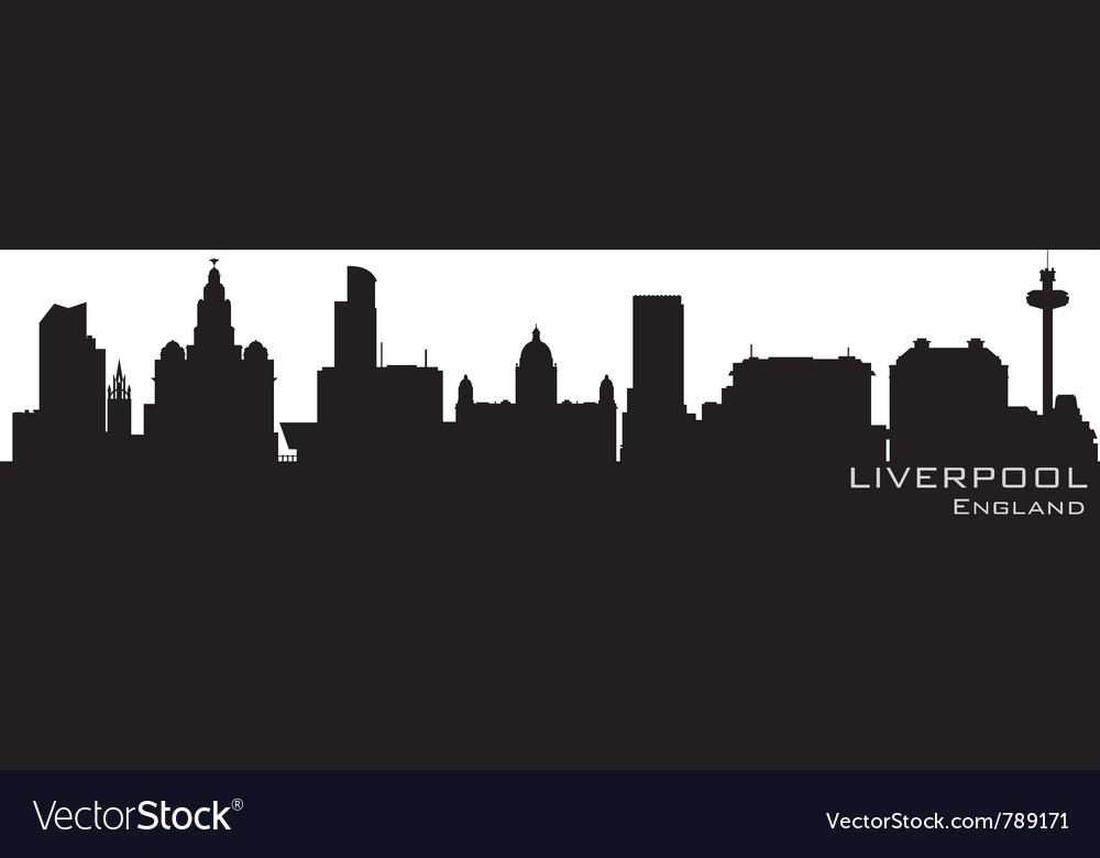 Liverpool england skyline detailed silhouette vector | Price: 1 Credit (USD $1)