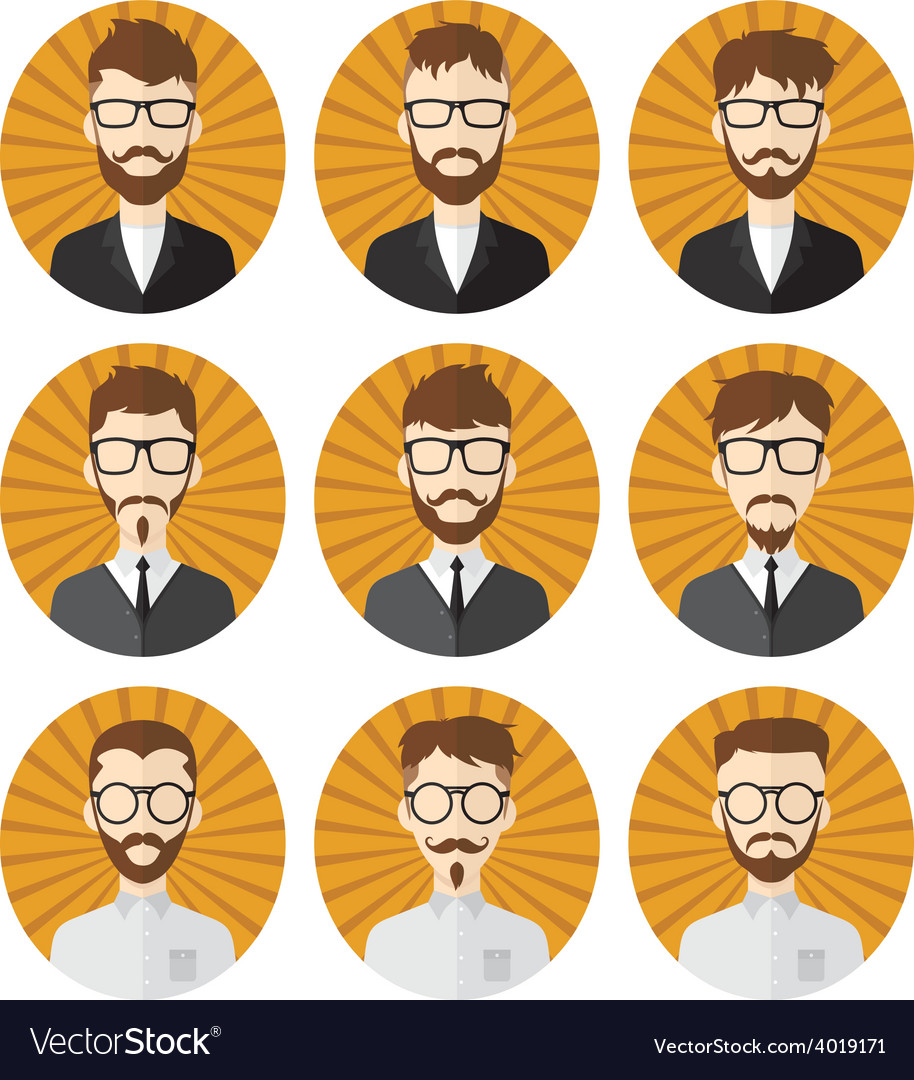 Man hipster avatar user picture cartoon character vector   Price: 1 Credit (USD $1)