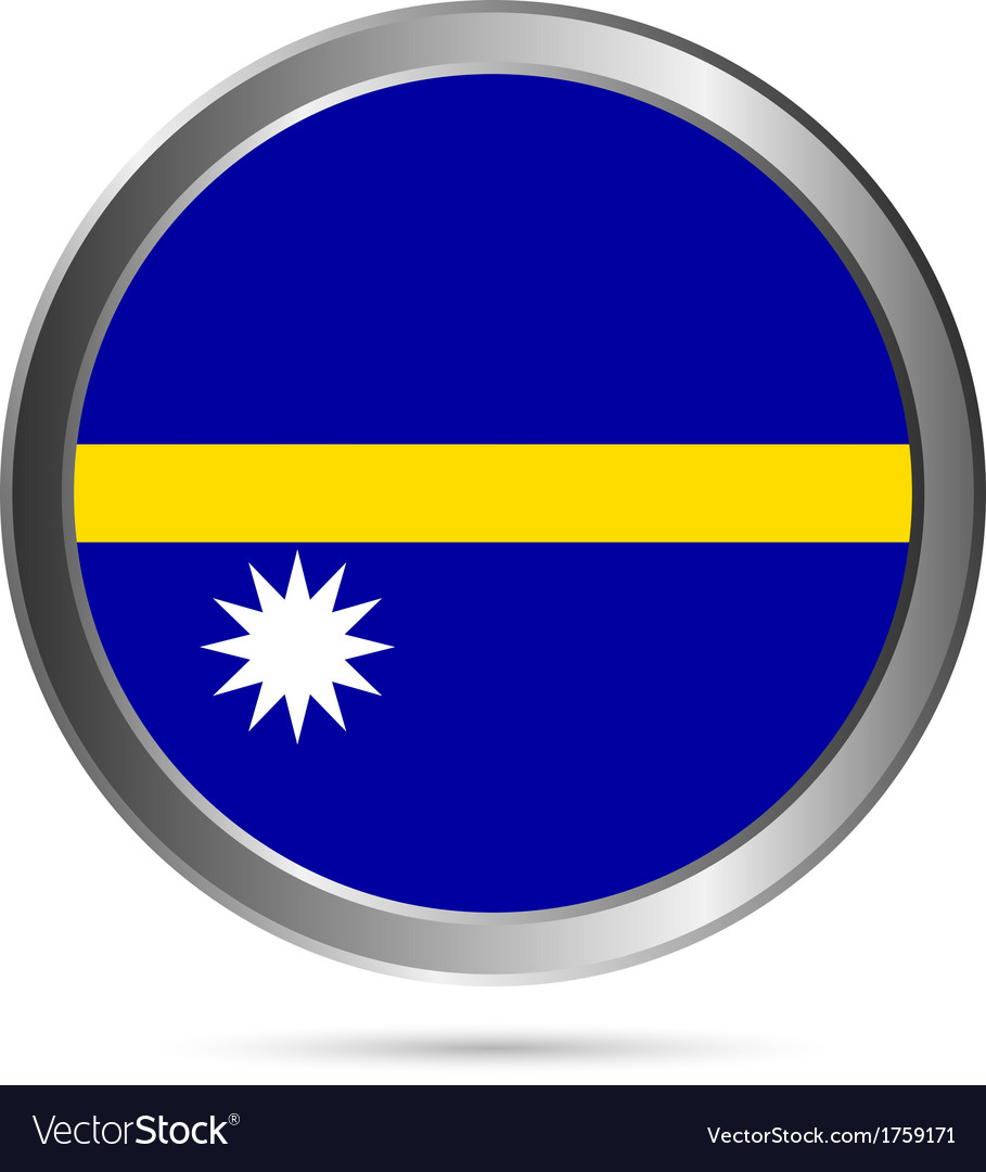 Nauru flag button vector | Price: 1 Credit (USD $1)