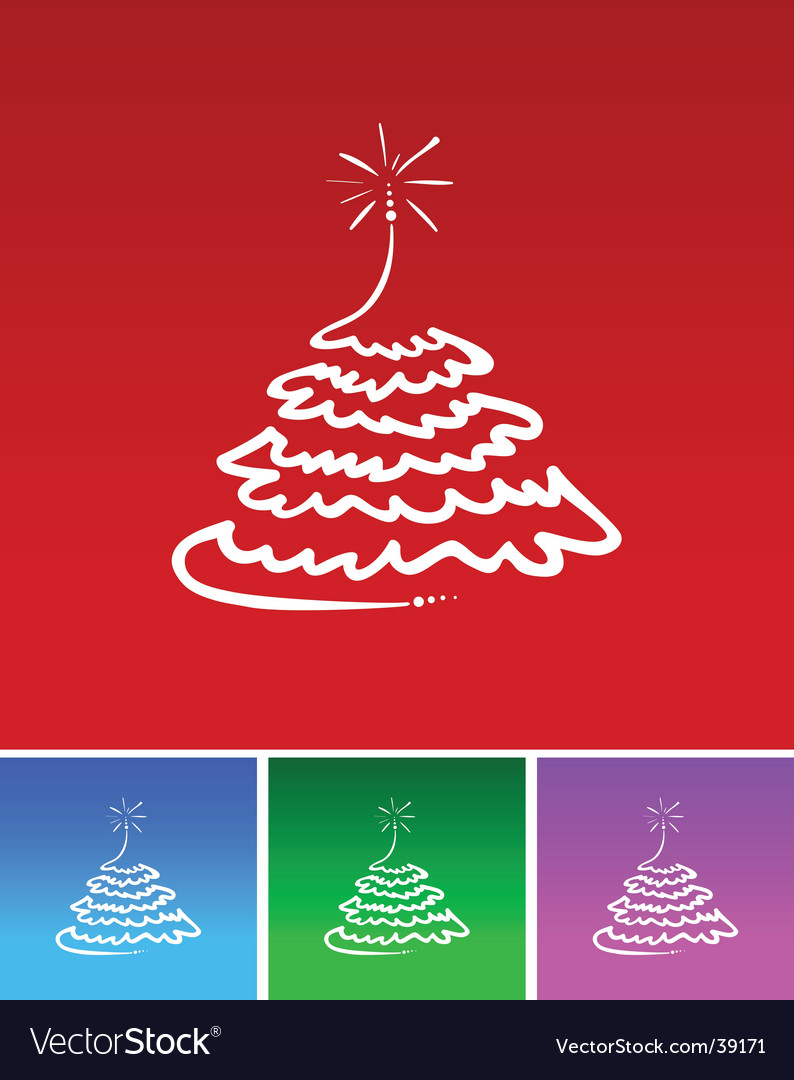 Simple christmas tree vector | Price: 1 Credit (USD $1)