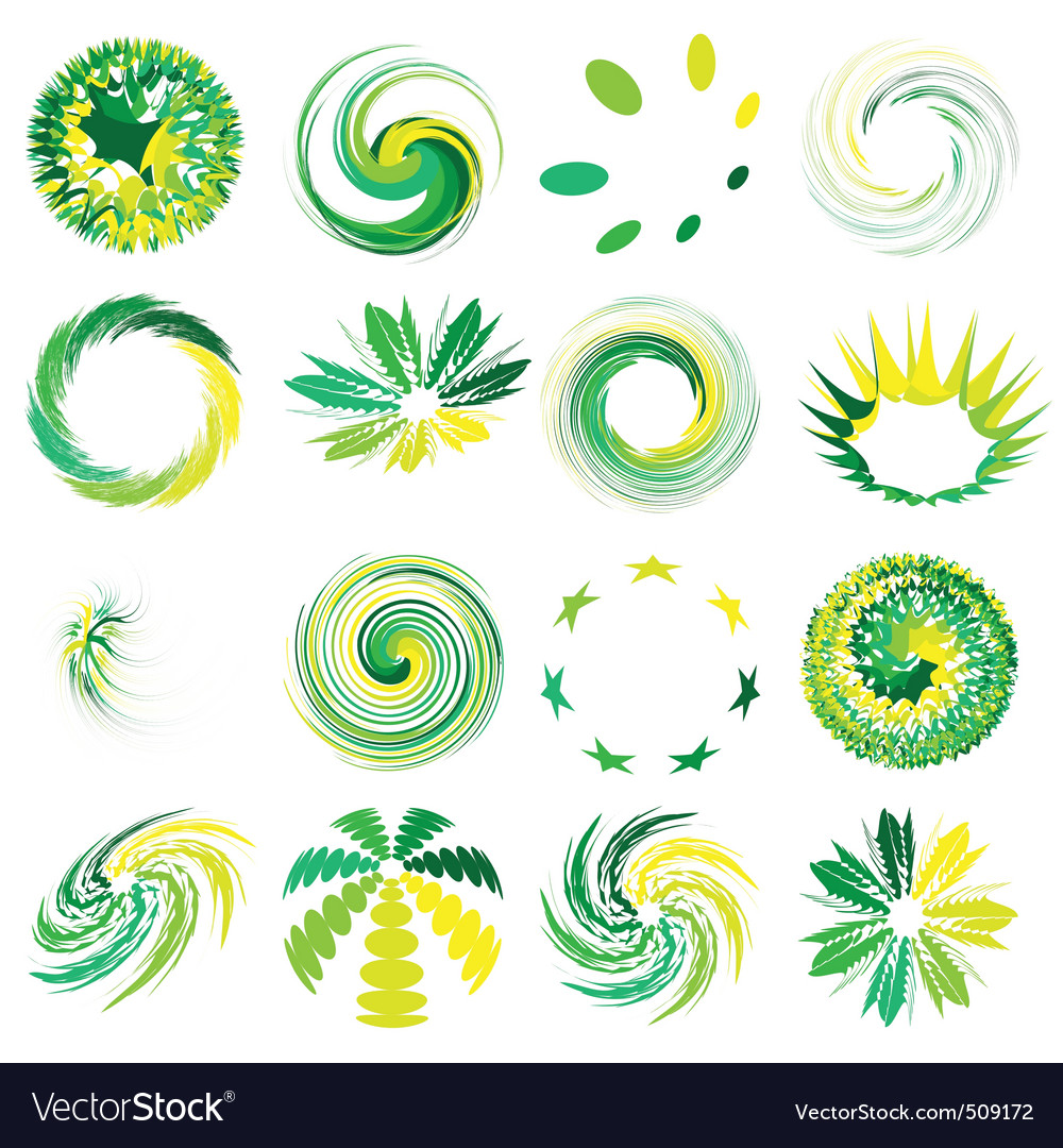 Abstract elements set vector | Price: 1 Credit (USD $1)