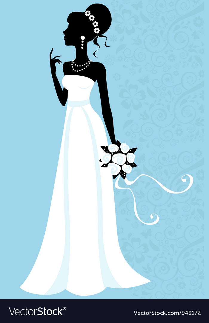 Beautiful bride vector | Price: 1 Credit (USD $1)