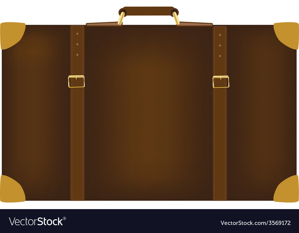 Brown travel bag vector | Price: 1 Credit (USD $1)