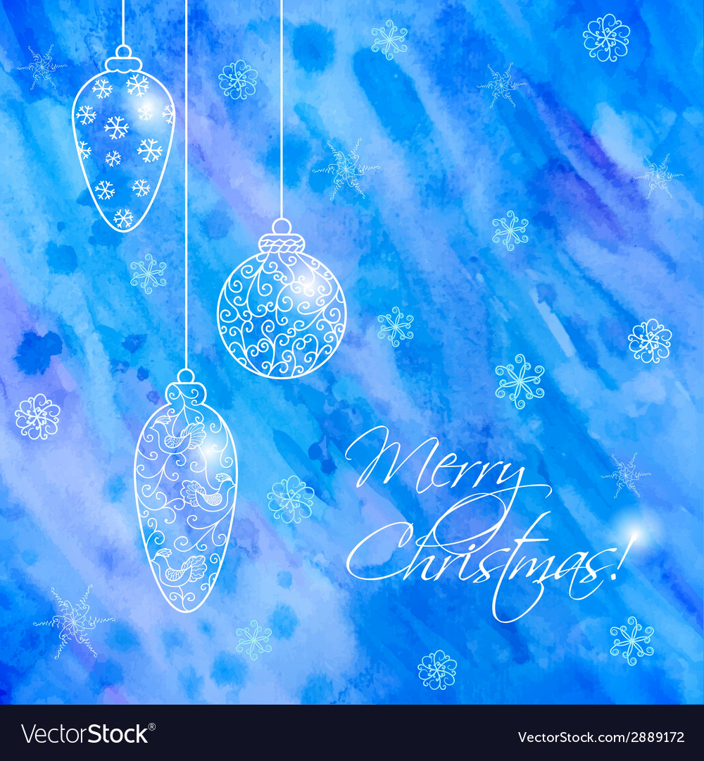 Christmas hand-drawn card with balls vector | Price: 1 Credit (USD $1)
