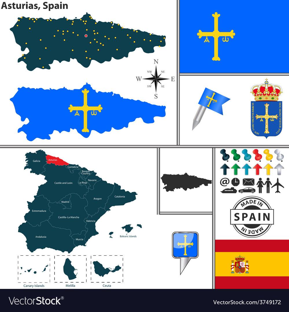 Map of asturias vector   Price: 1 Credit (USD $1)