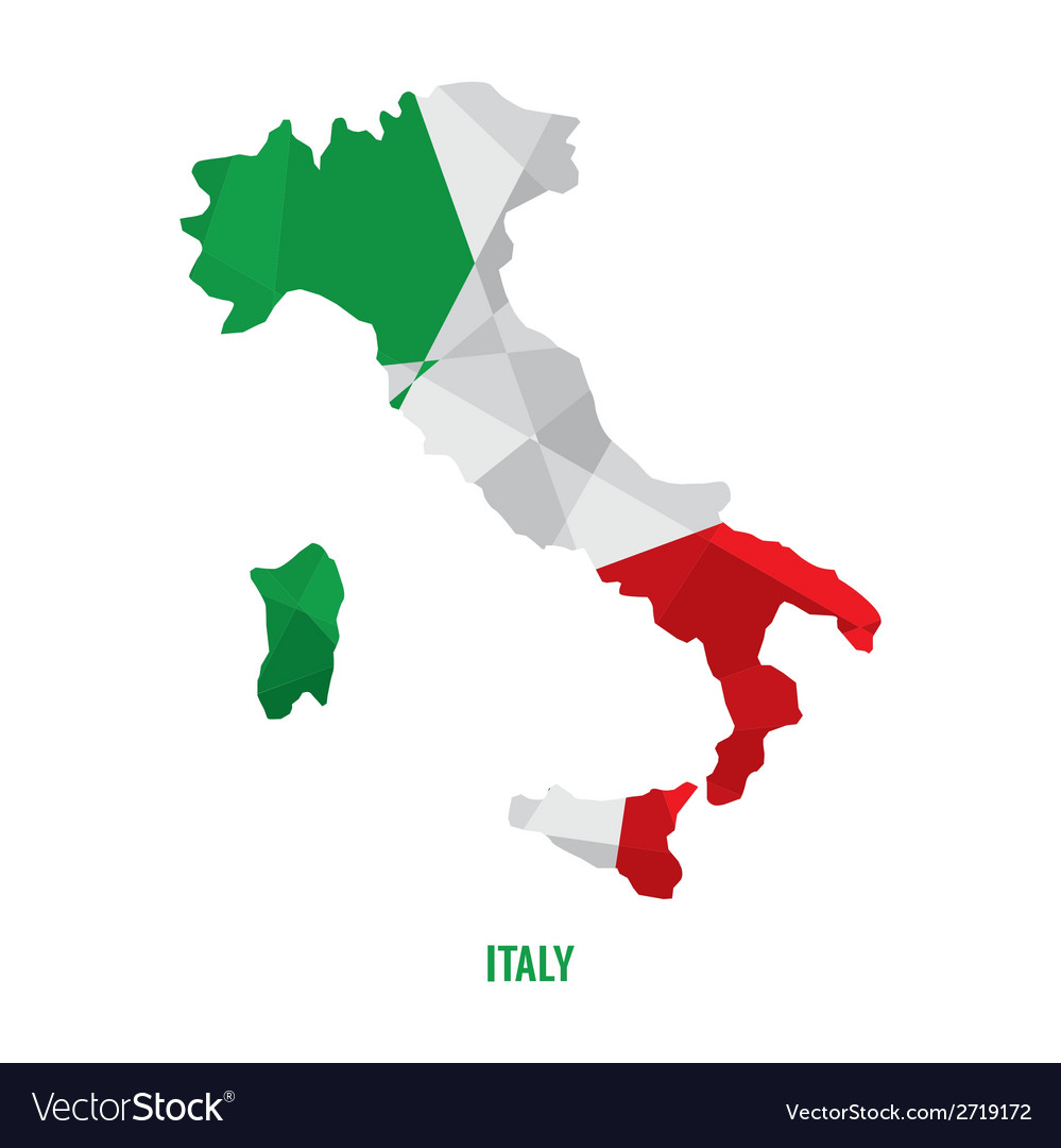 Map of italy vector | Price: 1 Credit (USD $1)