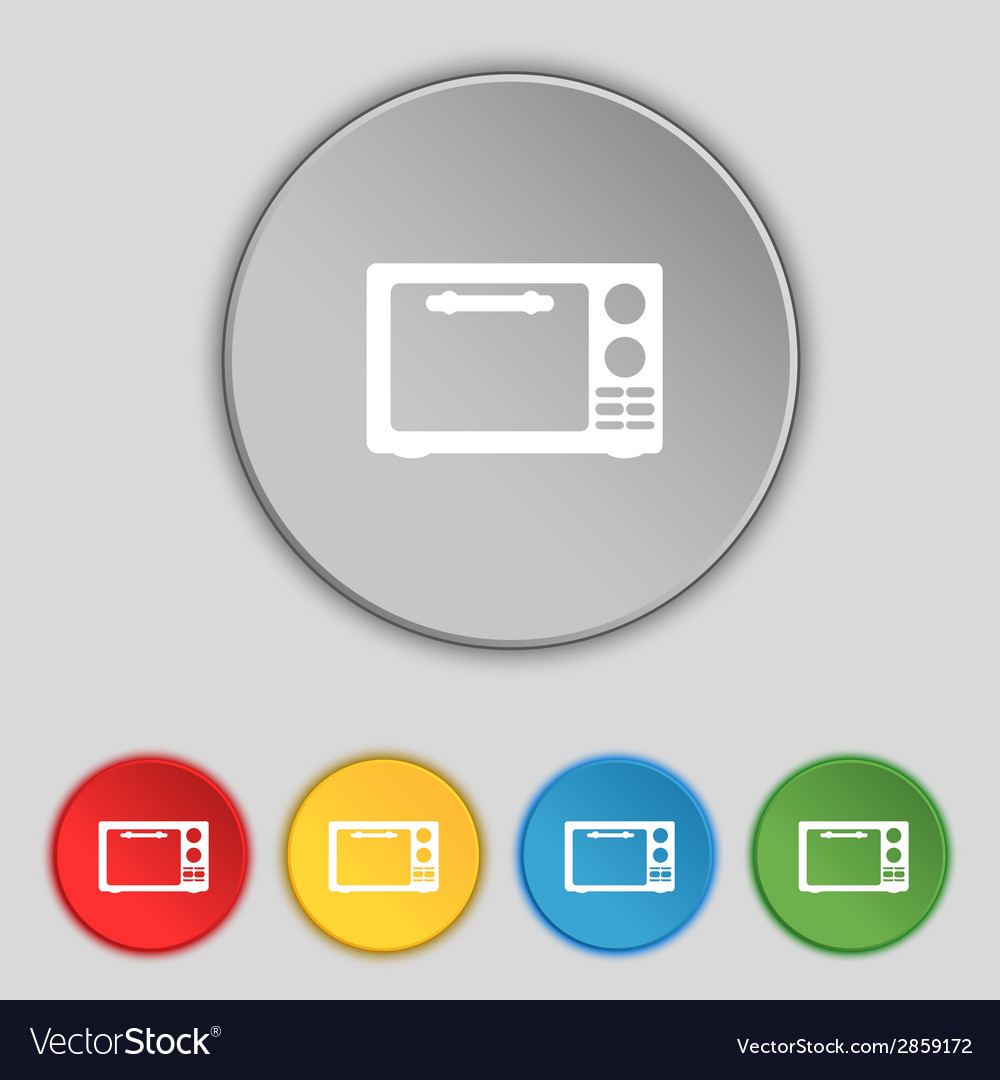 Microwave oven sign icon kitchen electric stove vector | Price: 1 Credit (USD $1)