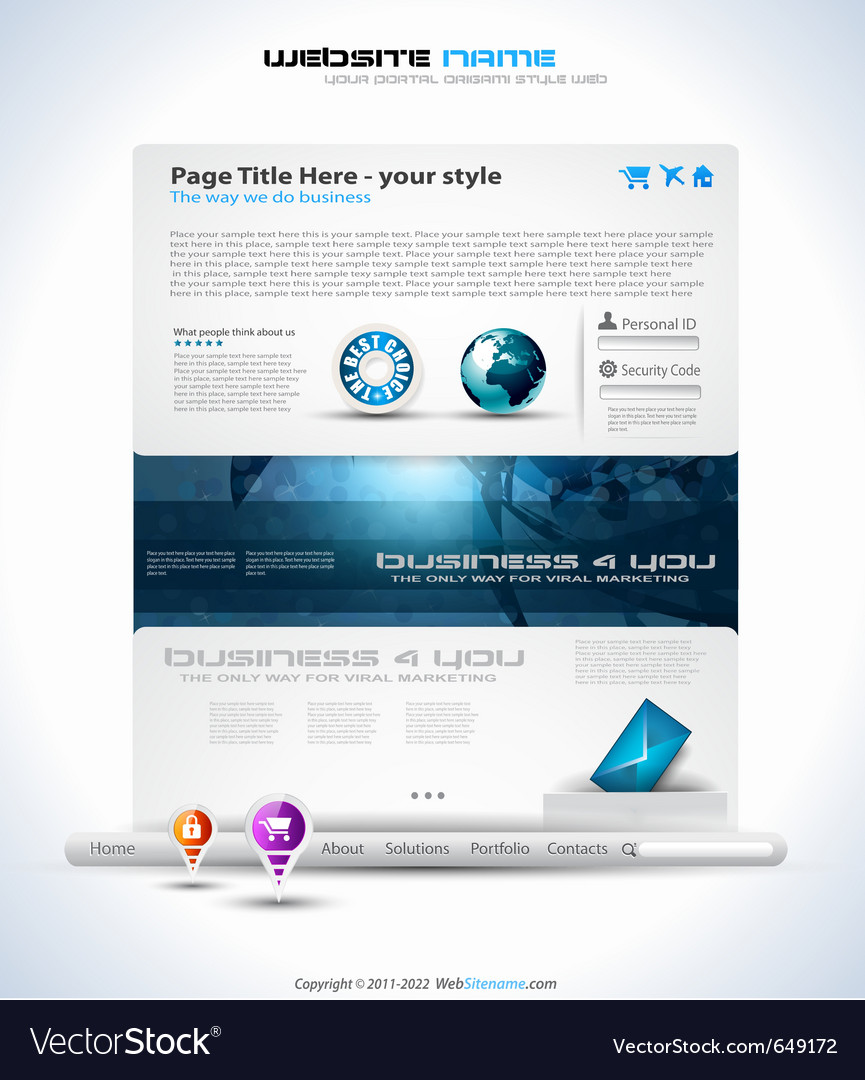 Modern website template vector | Price: 3 Credit (USD $3)